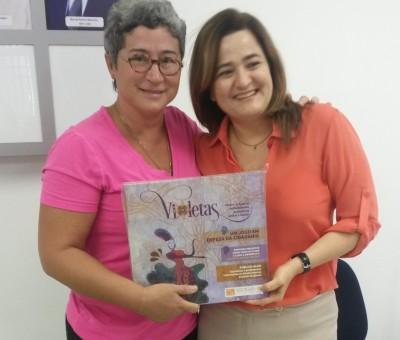 RECRIAR-SE entrega jogo Violetas ao Laboratório ECOS