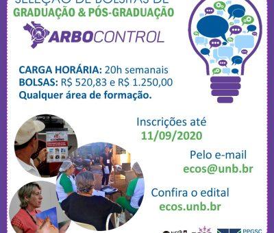 """Seleção para o Projeto: """"Gestão da informação, educação e comunicação no controle das arboviroses dengue, Chikungunya"""" – Arbocontrol nas escolas"""